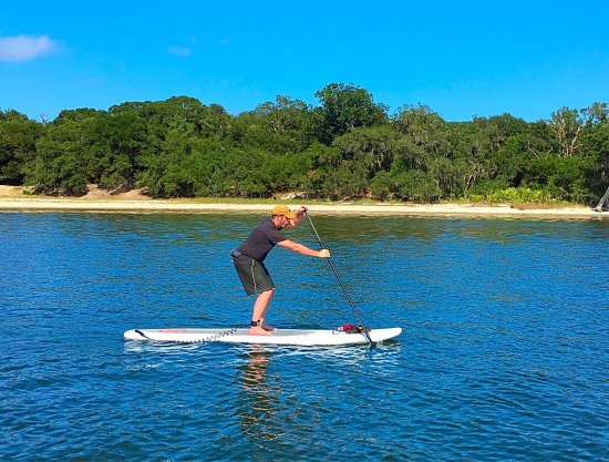 Paddle boarding lesson and tour in downtown Fernandina Beach