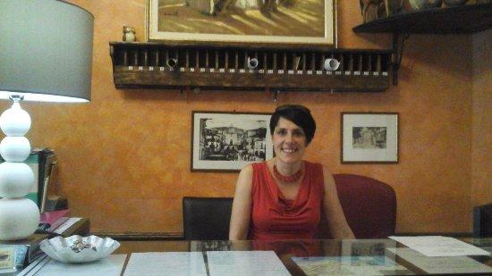 Hotel Villa Antica : Heike la sympathique réceptionniste