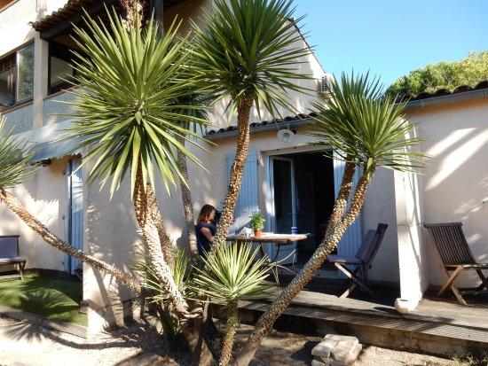 La Calignado: Blick auf die private Terasse vor dem Apartment