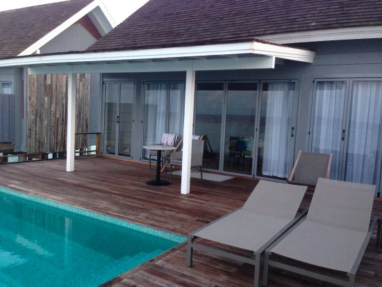 Private Pool Of The Sunset Water Villa Picture Of Kuramathi Island