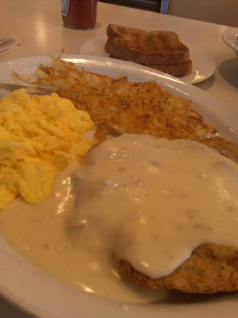 Whittier, CA: Chicken fried steak, eggs, hash browns, and toast