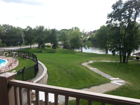 Orono, ME: Balcony view of Stillwater River from room 239.