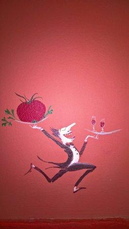 Joli dessin sur le mur picture of le comptoir du marche for Dessin mur