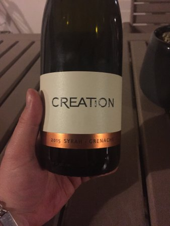 Creation Wines: This is my favourite wine from Creation the 2015 Syrah-Grenache