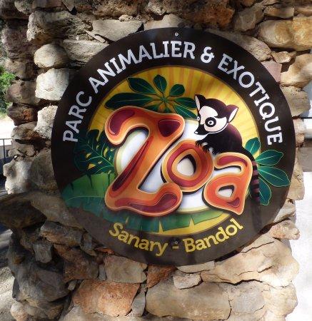 entr e du zoo picture of zoa parc animalier et exotique sanary sur mer tripadvisor. Black Bedroom Furniture Sets. Home Design Ideas