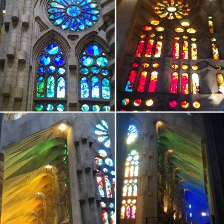 Giochi di colori delle vetrate all 39 interno della sagrada - Colori da interno ...