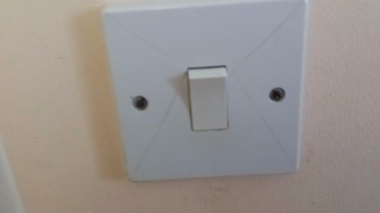 Lyme Bay House: Cracked light switch