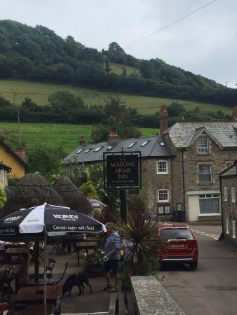 Branscombe, UK: View of village from the pub