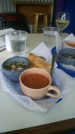 Sylva, NC: French dip roast beef sandwich, cup of tomato soup