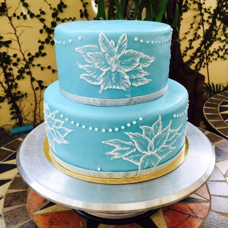 Close Up Of The Royal Icing On The Wedding Cake For Chef Bryan At