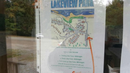 cowichan lake camping map Amazing Place Full Trailer Hookups Right On The Lake Showers cowichan lake camping map