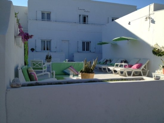 Sunrise Studios : The terrace with sea view