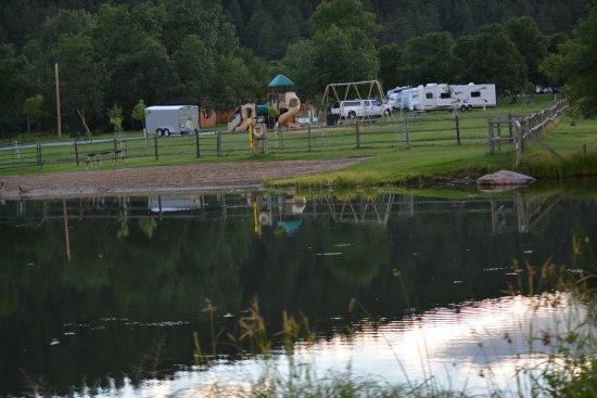 Pond and playground