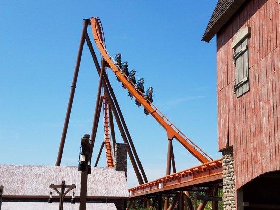 Holiday World & Splashin' Safari: Thunderbird roller coaster