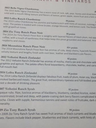 Windsor, Kalifornien: The Wines Tasted