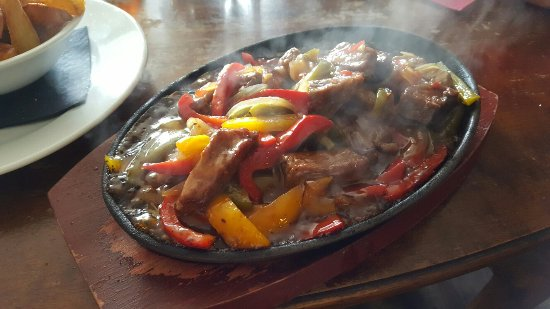 Marley Hill, UK: Sizzling Steak in a Sweet Chilli. Yum