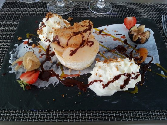 Saint-Astier, Frankreich: Dessert poire spéculoos