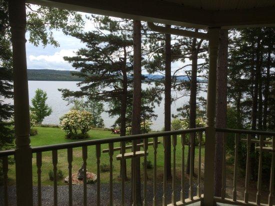 Lac-Megantic, Canadá: Sur le balcon.