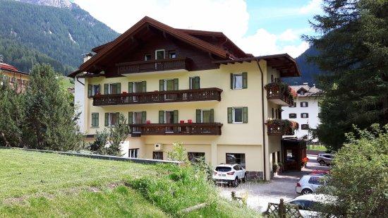 Hotel Europa: giardino sul retro dell'hotel