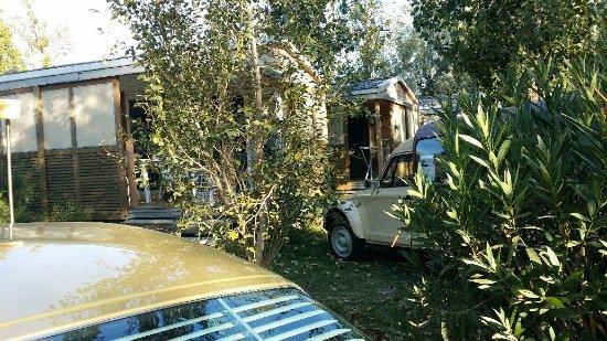 Sainte-Marie-la-Mer, ฝรั่งเศส: mauvaises herbes envahissant l'entrée du mobil