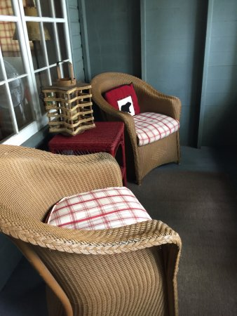 Wolfeboro, NH: Chairs on the front porch