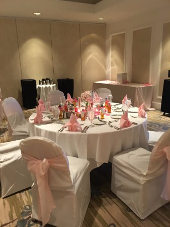 The H Hotel: wedding decor in ballroom