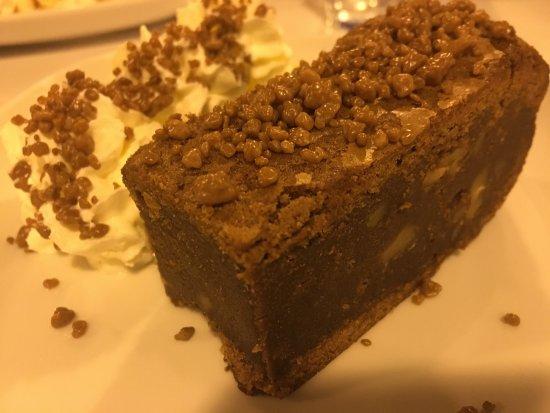 Province of Huelva, İspanya: Brownie de chocolate con petacetas de chocolate