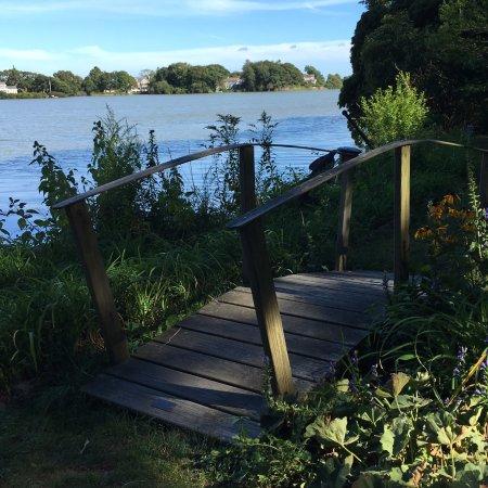 Spohr Gardens: Small wooden bridge in gardens