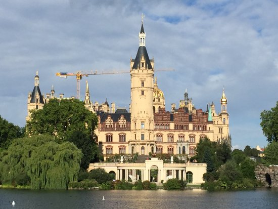 Schwerin, Germany: close up from the lake