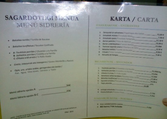 Eibar, Spain: Ipur Sagardotegia