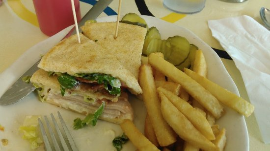 Olympia Cafe and Gyros: 1/2 of the Clubhouse Pita.