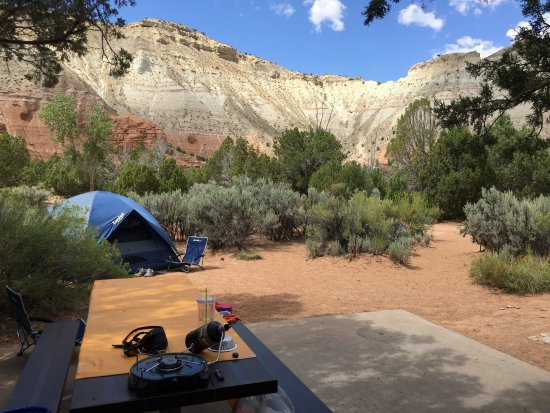 Cannonville, UT: Campsite at Kodachrome Basin State Park, UT
