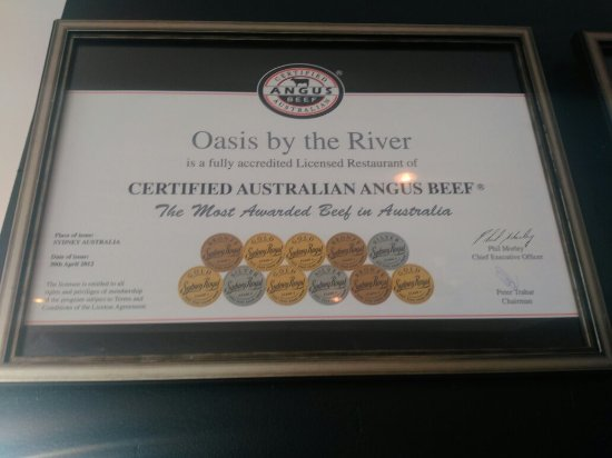 North Haven, Australien: Australian most awarded beef.. Certified Australian Angus Beef Only @Oasis!!