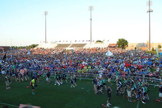 Blaine, Миннесота: USA Cup opening ceremny in NSC Stadium