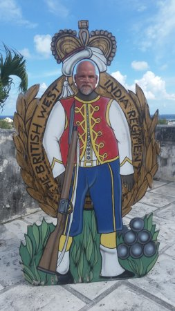 me in the cutout in front of Fort Charlotte