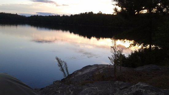 Ely, MN: Sunset from campsite