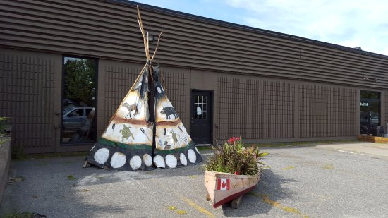 Fort Frances, Canadá: Outdoor decorations.