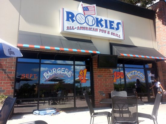 Elgin, IL: Front of Rookies from patio