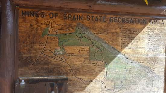 Dubuque, IA: Map of Mine of Spain Recreation Area
