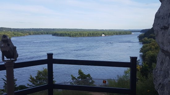 Dubuque, IA: Mississippi Rview view at Mine of Spain Recreation Area