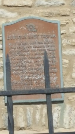 Dubuque, IA: Plaque at Shot Tower
