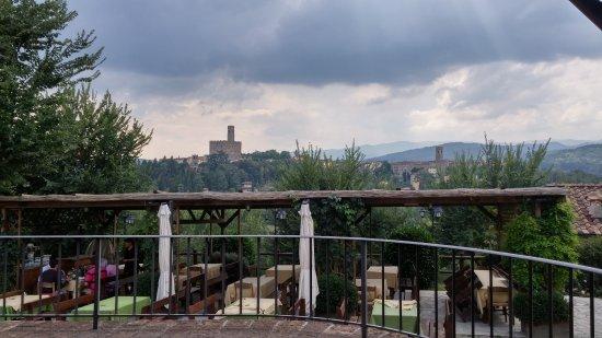 La Torricella : Il panorama dal nostro tavolo
