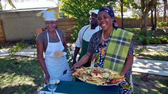 Inhaca, Mozambik: Ecco il piatto di aragosta, seppia e gamberi