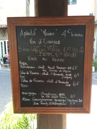 Auribeau-sur-Siagne, França: Wine menu