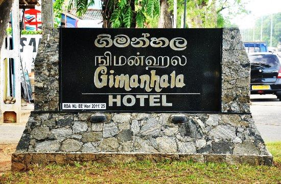 Gimanhala Hotel : Hotel Entrance