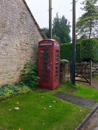 Phone booth just opposite the inn