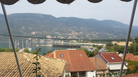 Vasiliki Blue: The view from room nr. 1, on the first floor.