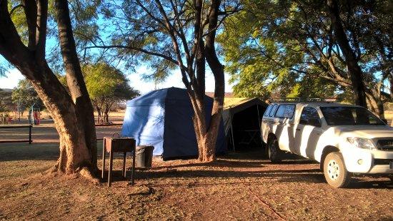 Modimolle (Nylstroom), แอฟริกาใต้: Campsite beneath the trees