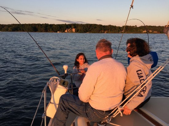 Two Brothers Sailing : August 2016, family group having fun
