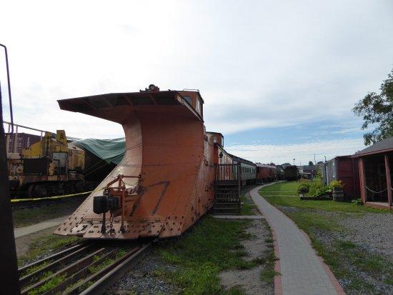Northern Ontario Railroad Museum & Heritage Centre: Om vinteren var det en nødvendighed med denne sneplov.